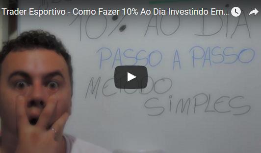 Trader Esportivo – Como Fazer 10% Ao Dia Investindo Em Futebol? Vídeo Passo a Passo [PARTE 1/3]